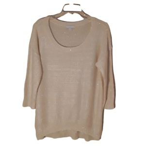 New York & Co L  shimmer scoop neck sweater